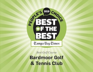 Graphic stating Bardmoor Voted 2019 Tampa Bay Times People's Choice Best of the Best Golf Course in Tampa Bay